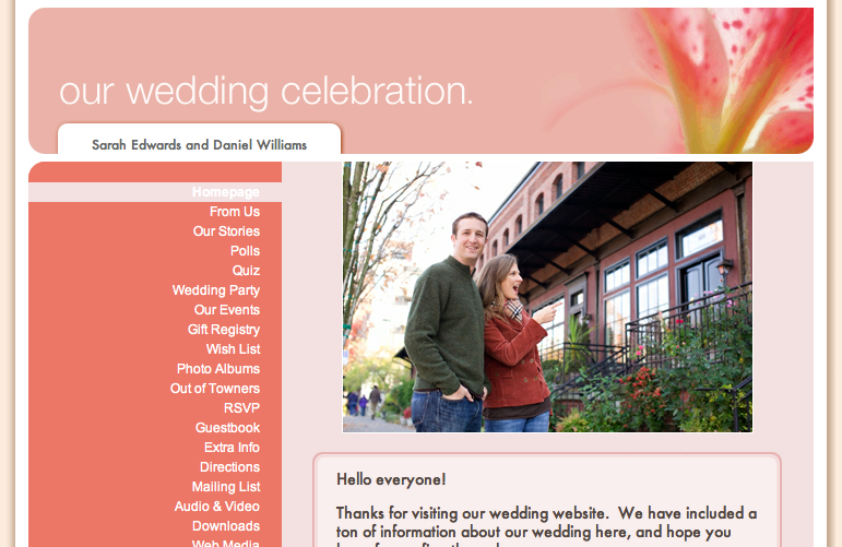 Create a Free Wedding Website