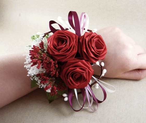Red Origami Boutonniere