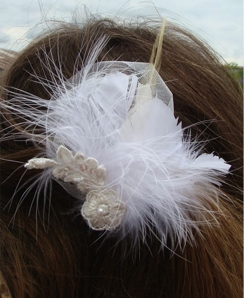 DIY Feather Wedding Hair Accessories