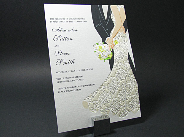 Letterpress Invitations by Digby & Rose
