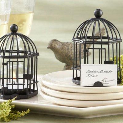 Rustic Birdcage Tea Light Holder
