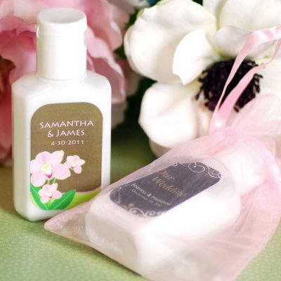 Personalized Hand Lotion Wedding Favors